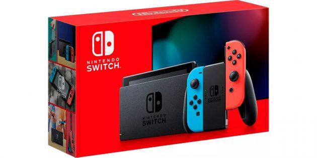 Коробка обновлённой версии Nintendo Switch