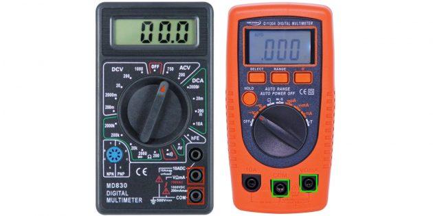 Как пользоваться мультиметром: измерить переменное напряжение