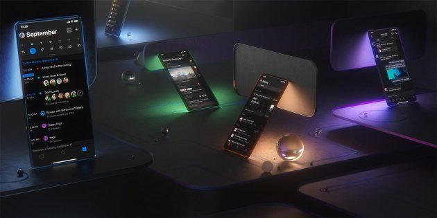 Тёмная тема в мобильный Outlook