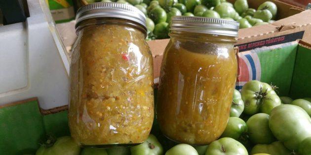 Овощная икра из зелёных помидоров на зиму