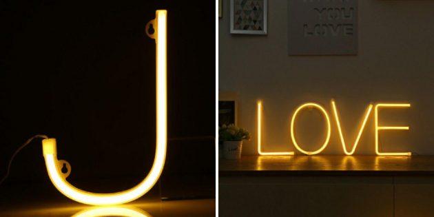 Лампы-буквы