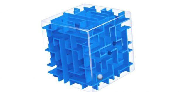 Развивающие игры для детей 6–7лет: лабиринт-куб