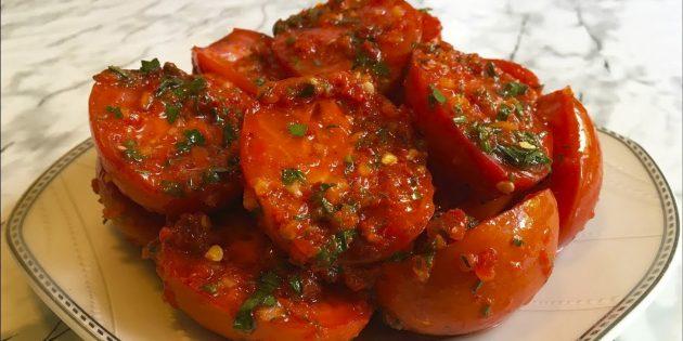 6 luchshih receptov pomidorov po-korejski, v tom chisle na zimu