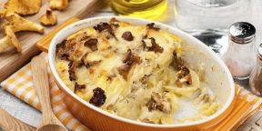 7 рецептов ароматной картошки с лисичками