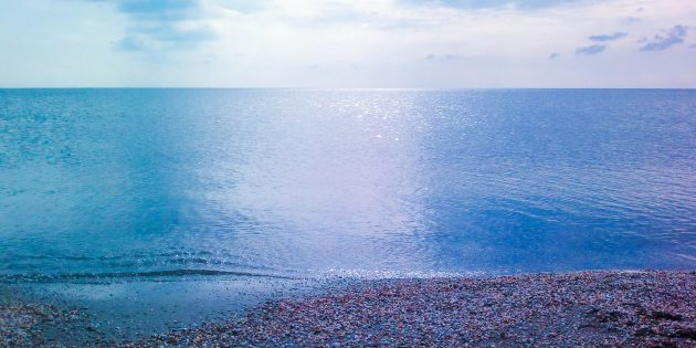 Каспийское море, побережье Азербайджана