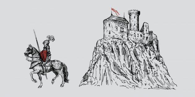 Визуализация: более глубоко проработанная метафора щита — средневековый рыцарь