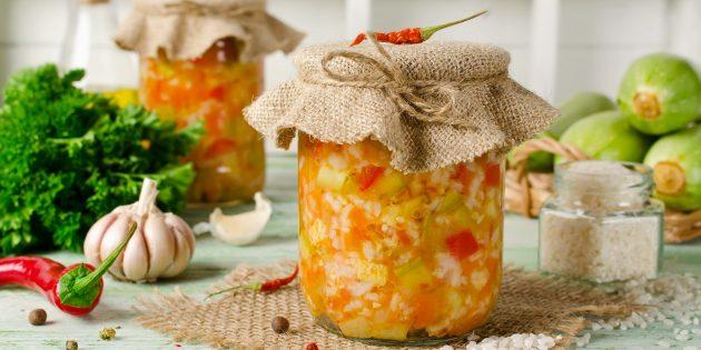 8 салатов из кабачков на зиму