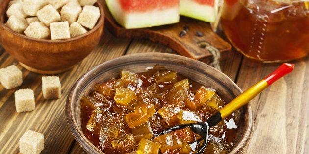 Рецепт варенья из арбузных корок с апельсином