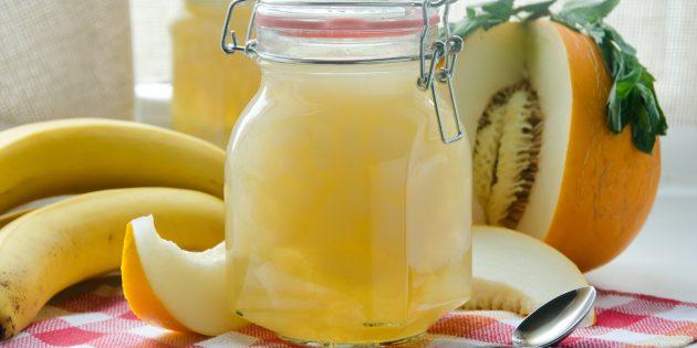 Варенье из дыни с бананом