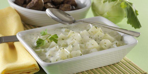 Рецепт кольраби со сливочным соусом