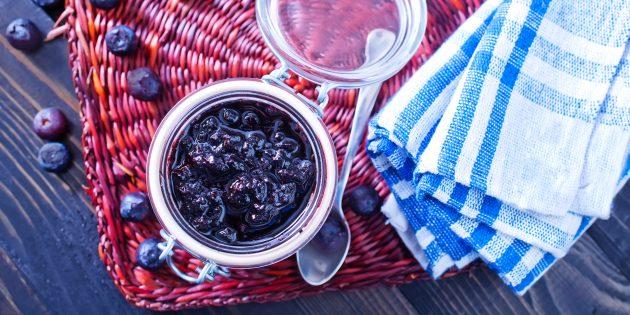 Варенье из черники с лимонным соком на зиму