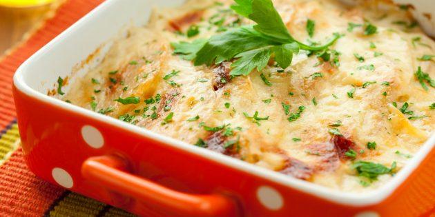 Рецепт запеканки из кольраби с картошкой и сыром