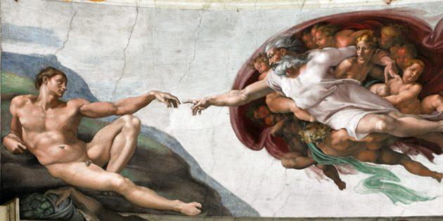 Оригинальная картина Микеланджело без кастомизации