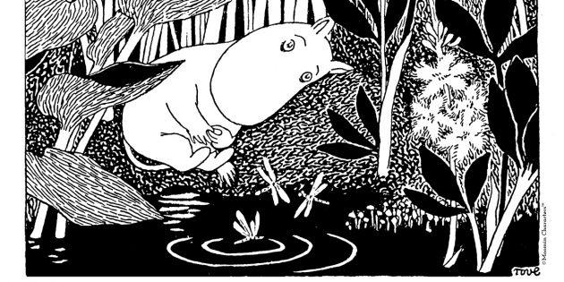 Иллюстрация к книге о муми-троллях «Опасное лето»