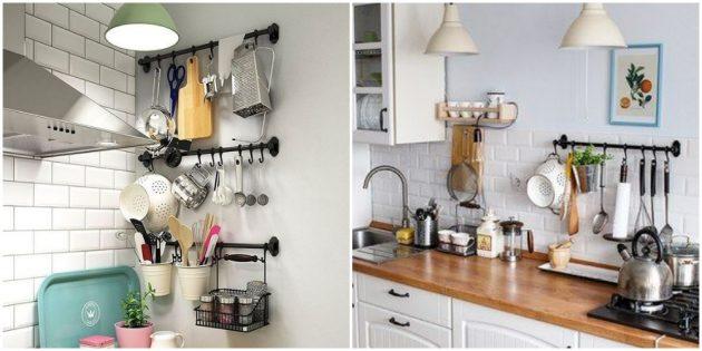 Интерьер кухни: разместите на виду кухонные принадлежности
