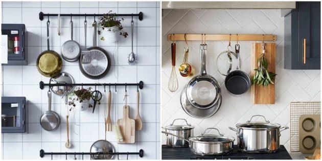 Разместите на виду кухонные принадлежности