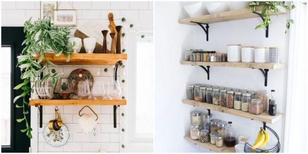 Разнообразьте интерьер кухни полочками