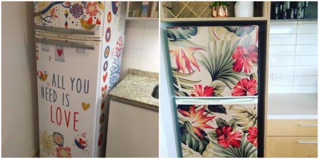 Интерьер кухни: украсьте холодильник