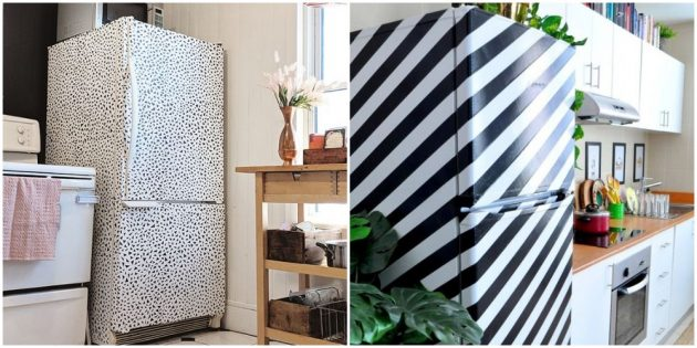 Украсьте холодильник на кухне