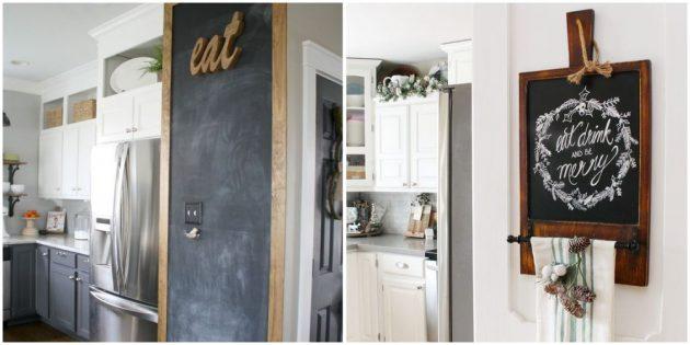 Сделайте грифельную доску или стену на кухне