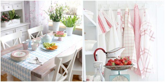 Добавьте красивый текстиль в интерьер кухни