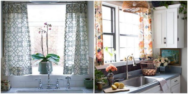Интерьер кухни: добавьте красивый текстиль