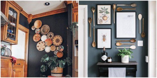 Украсьте стены на кухне