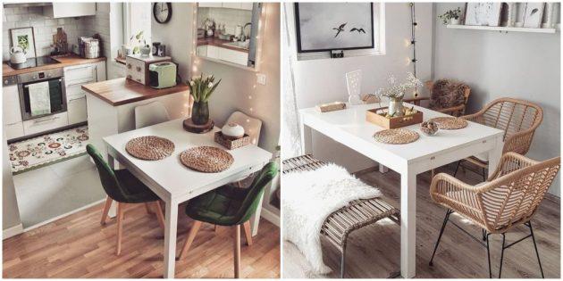 Интерьер кухни: замените или преобразите стулья