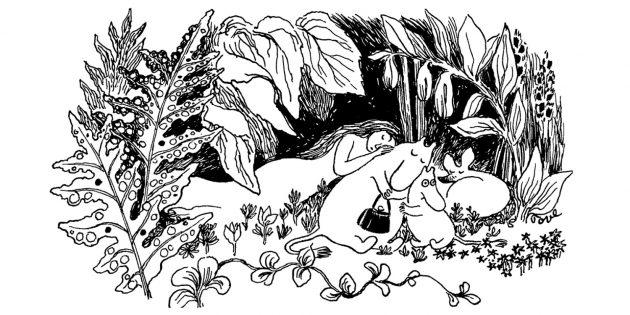 Иллюстрация к первой книге о муми-троллях