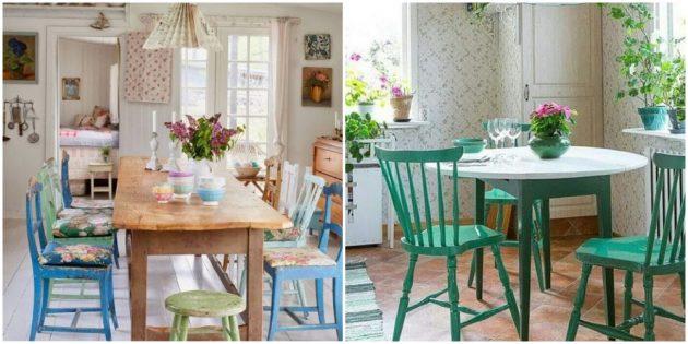 Интерьер кухни: замените стулья