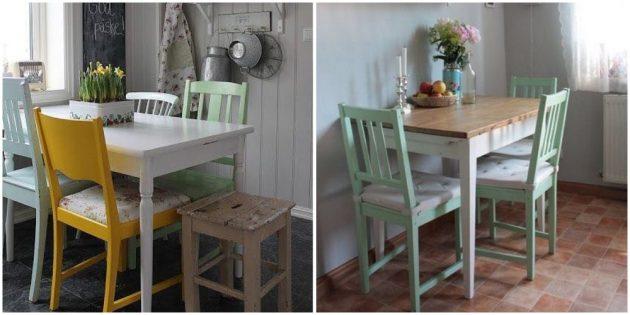 Замените или преобразите стулья на кухне
