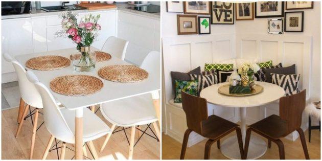 Оформите стол салфетками и красивыми вазами