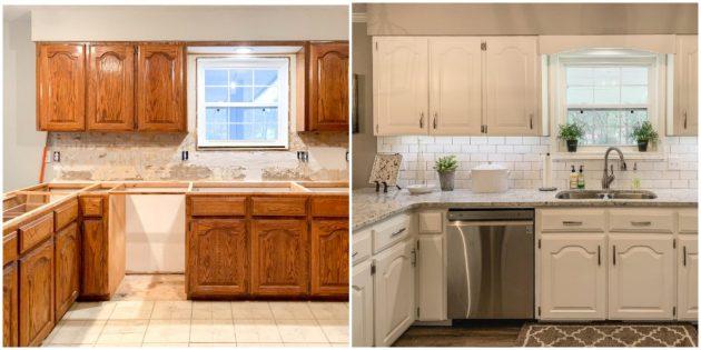 Перекрасьте старый кухонный гарнитур