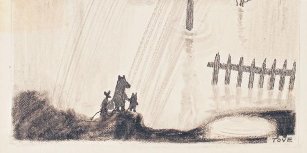 Эскиз к книге «Маленькие тролли и большое наводнение»