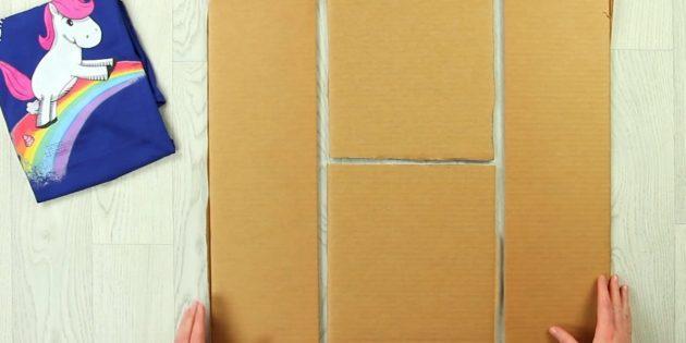 Сделайте ещё одну такую же деталь и вырежьте два куска картона