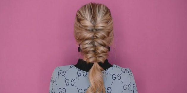 Объёмная причёска на 1сентября с резинками
