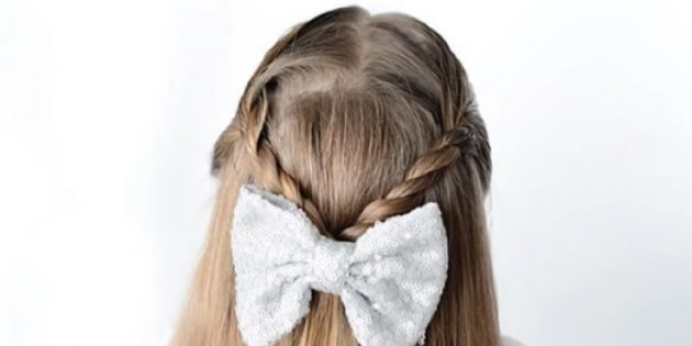 Причёски на 1сентября: распущенные волосы с перекрученными прядками