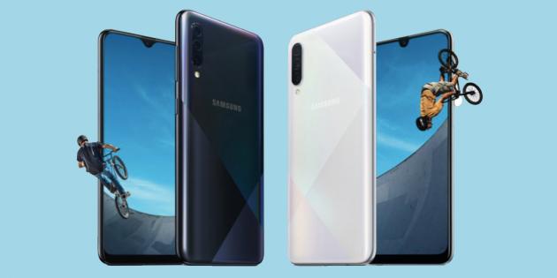 Samsung анонсировала Galaxy A30s и A50s: быстрая зарядка и 4 камеры