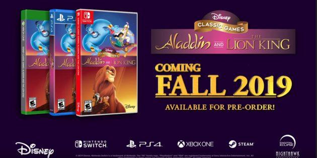 Disney перезапустит игры «Аладдин» и «Король Лев»
