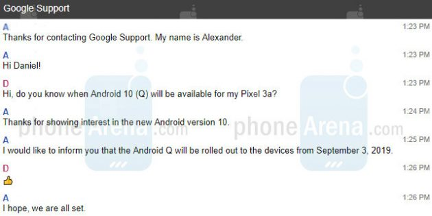 дата выхода Android 10