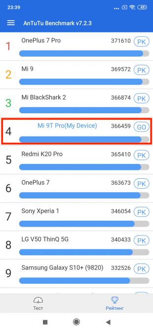 Xiaomi Mi 9T Pro: AnTuTu