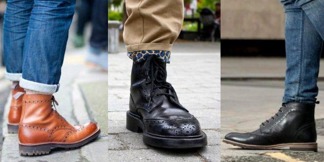 Модные ботинки-броги для осени и зимы 2019/2020