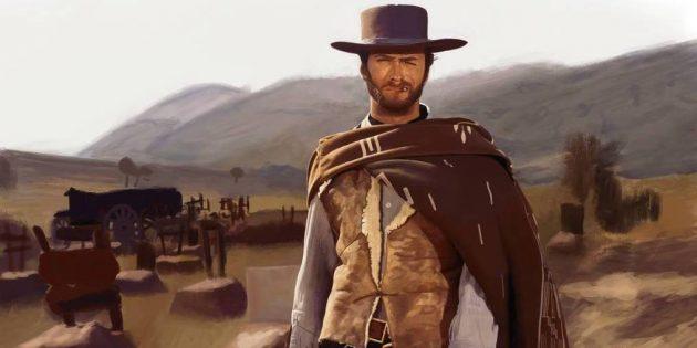 Клинт Иствуд в фильме «Хороший, плохой, злой»