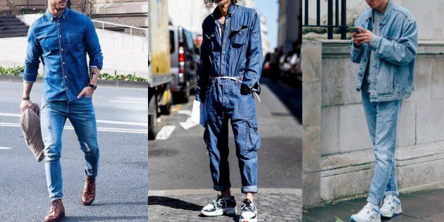 Мода для мужчин: джинсовые костюмы