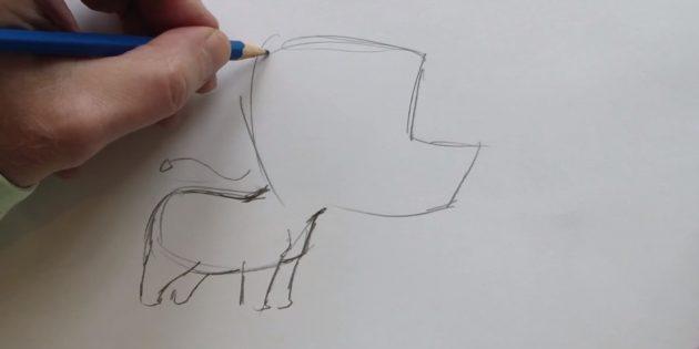 Изобразите передние и задние ноги