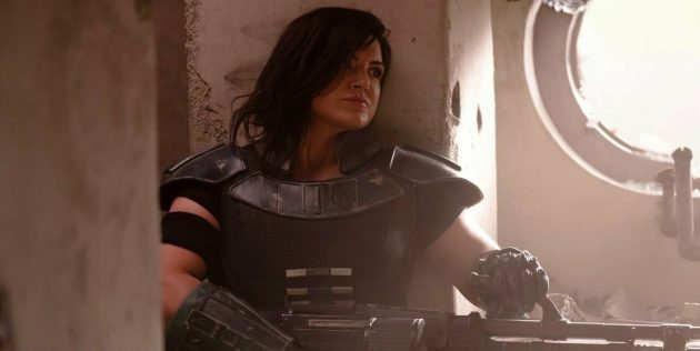 Джина Карано в роли Кары Дун. Промокадр сериала «Мандалорец»