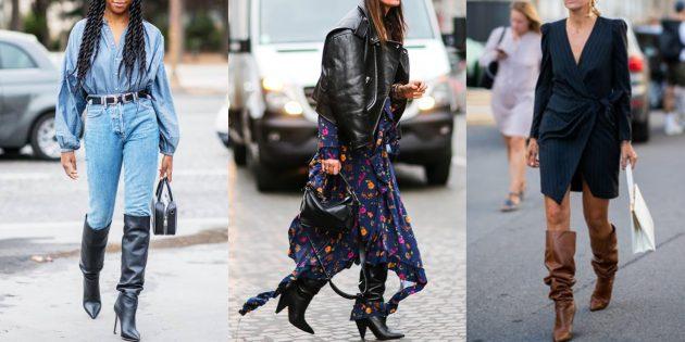 Модная обувь осени и зимы 2019–2020 для женщин: сапоги и ботинки с напуском