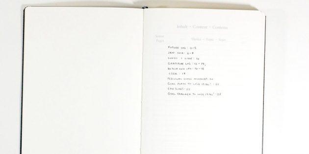 Первые страницы оставьте для оглавления
