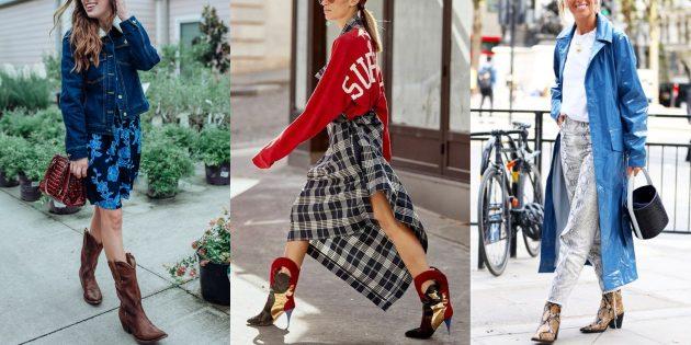 Модная обувь осени и зимы 2019–2020 в ковбойском стиле