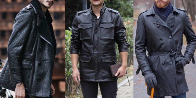 Мужская мода — 2019: куртки и плащи из кожи